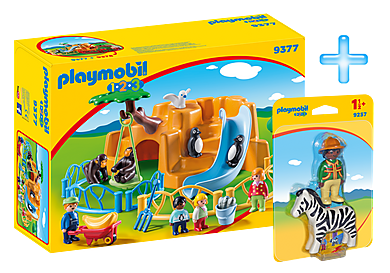 PM1909H_product_detail/Playmobil 1.2.3 Zoo Bundle