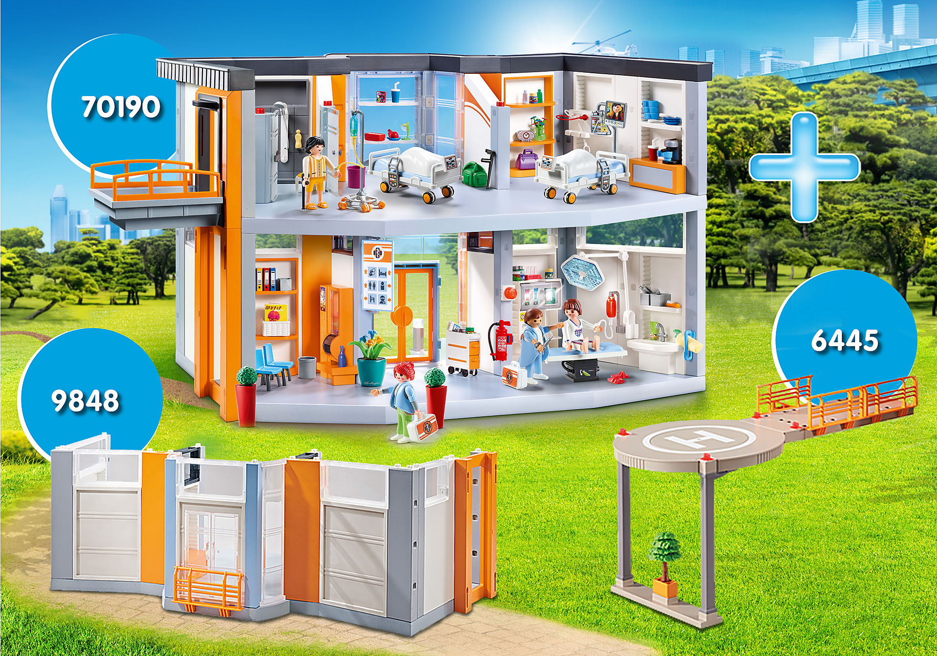 http://media.playmobil.com/i/playmobil/PM1911P_product_detail/Bundle Krankenhaus