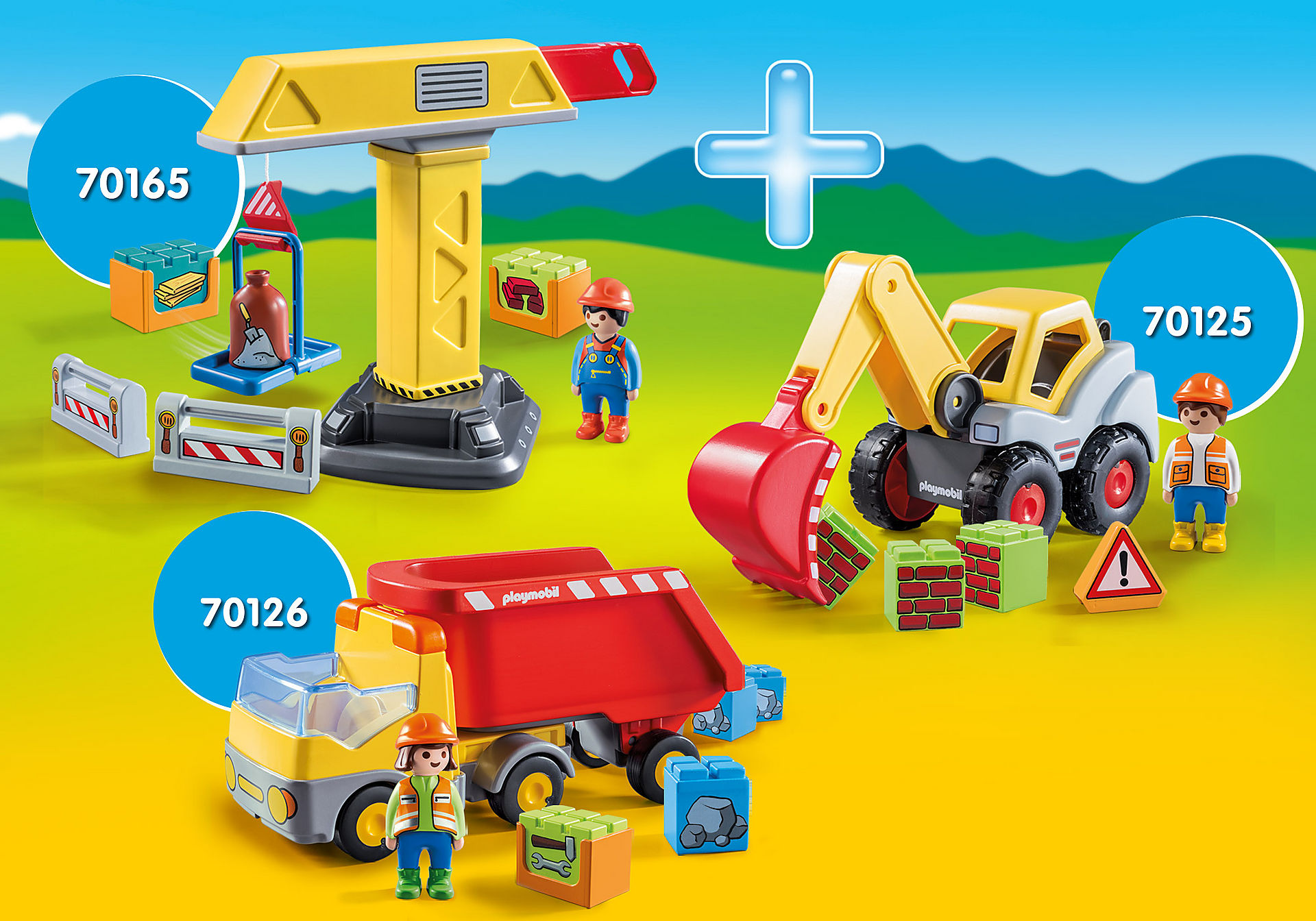PM2003P PLAYMOBIL 1.2.3 Construction zoom image1