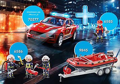 PM2008I Le bouquet Porsche Macan S et  Pompier