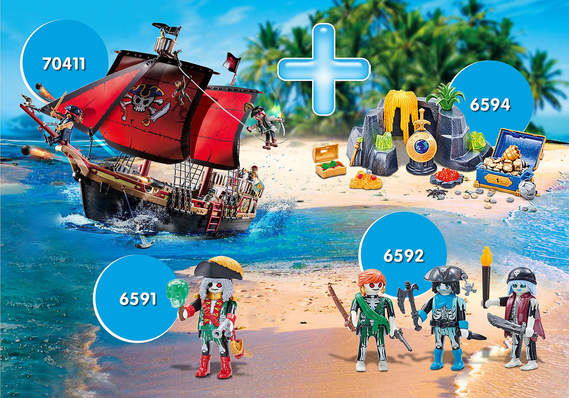 PM2008P Bundle Piraten III/Totenkopf-Kampfschiff zoom image1