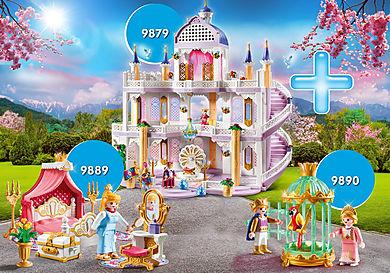 PM2010H Pack Promocional Castelo dos sonhos com crianças e princesa