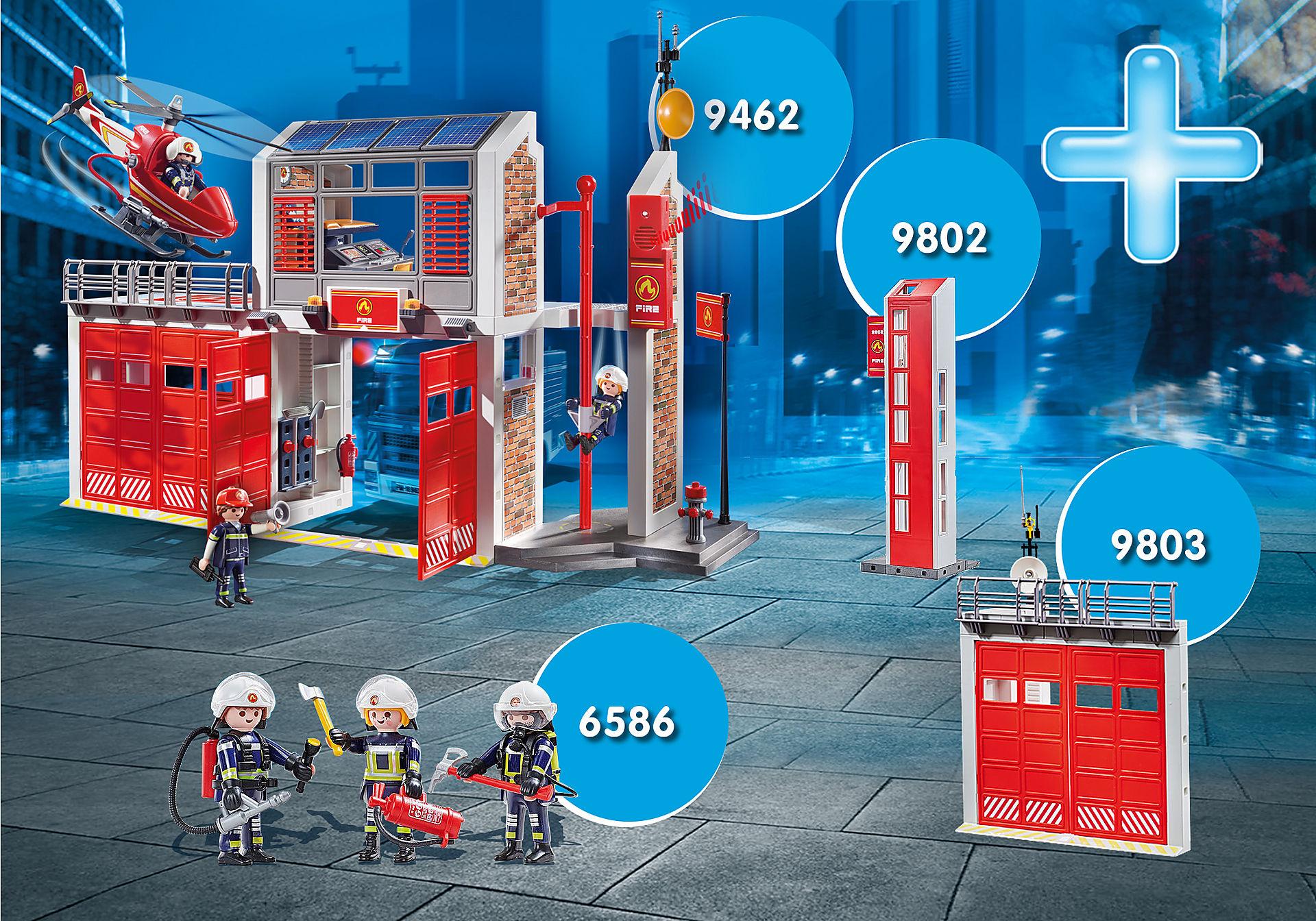 PM2014N MAXIPLAYMO Caserne pompiers zoom image1