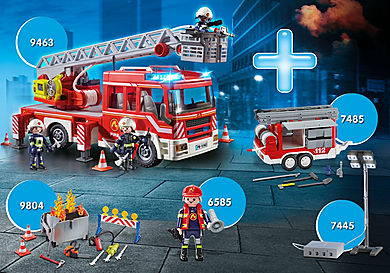 PM2014S Pack Promocional Camión de Bomberos con Escalera