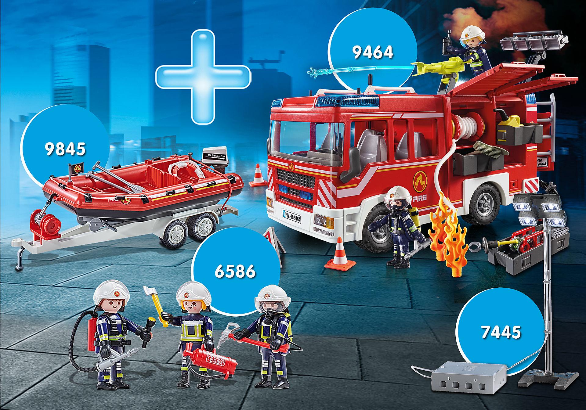 PM2014T MAXIPLAYMO Fourgon des pompiers zoom image1