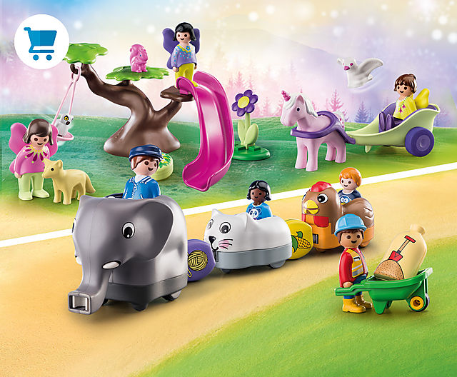 Many new adventures for the smallest among us with 70405 1.2.3 animal train 70400 1.2.3 fairy tree and many new playsets