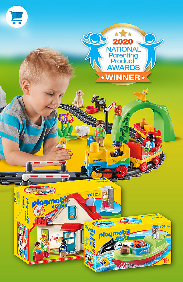 Discover PLAYMOBIL 1.2.3 like 70179 My First Train set or 70129 Family Home