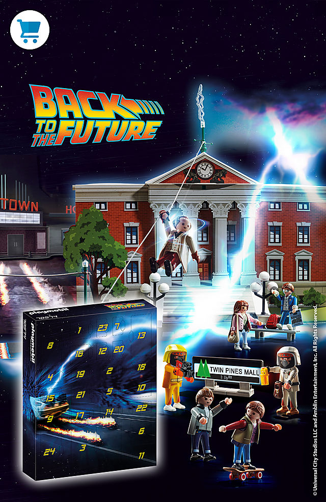 Find our newest Back to the future play set the 70574 BTTF advent calender – show now