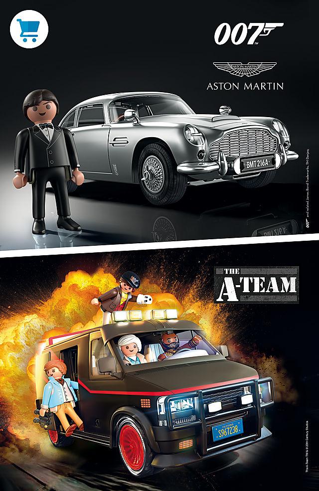 James Bond's Aston Martin and the A-Team