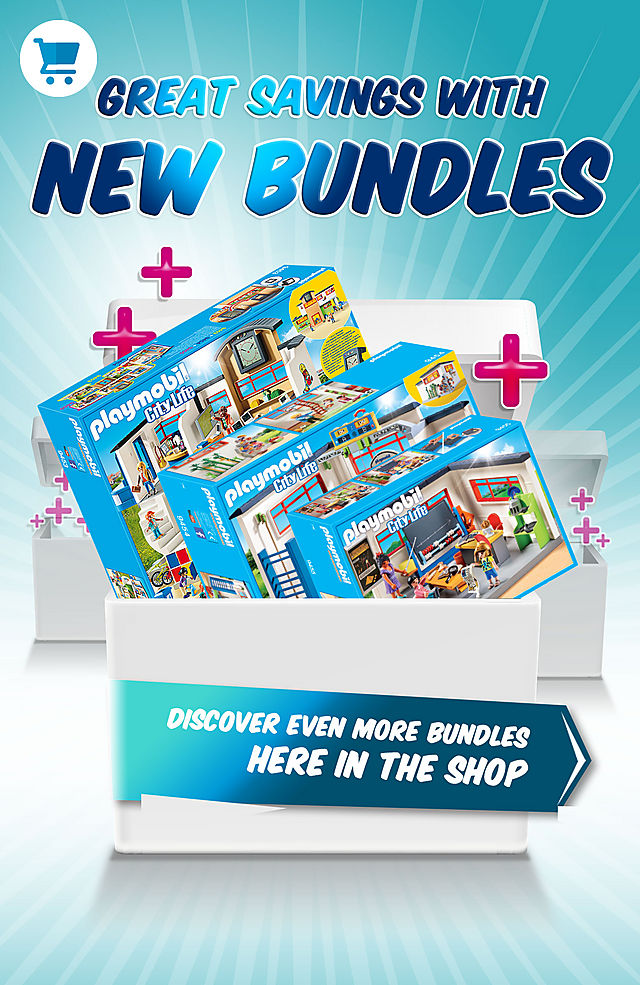Discover and save on many bundles like the School Bundle which includes the School 9453 + Gym 9454 and History Class 9455 for only $149.99 instead of $209.97