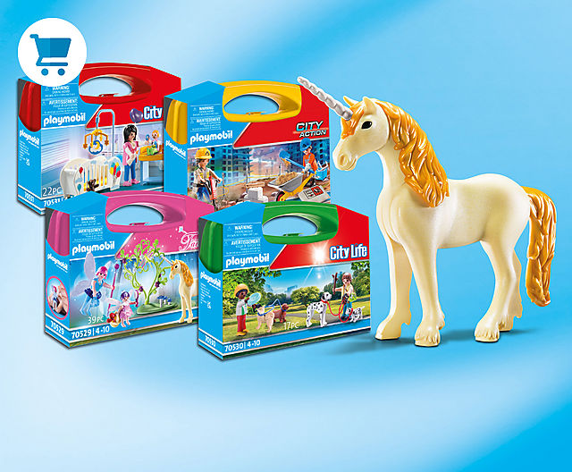 Play fun always to go with the new Carry Cases from Playmobil eg 70528 Construction or 70529 Fairies
