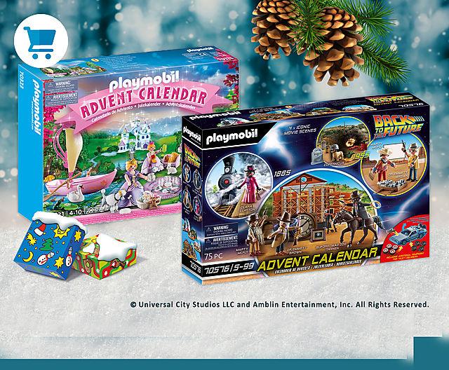 Discover our latest Playmobil advent calendars like 70576 Advent Calendar - Back to the Future III or 70323 Advent Calendar - Royal Picnic