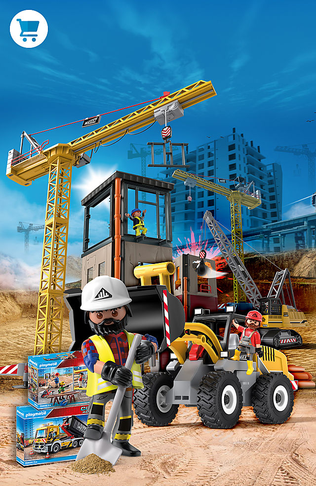 'Construct the new building with the NEW PLAYMOBIL Construction sets
