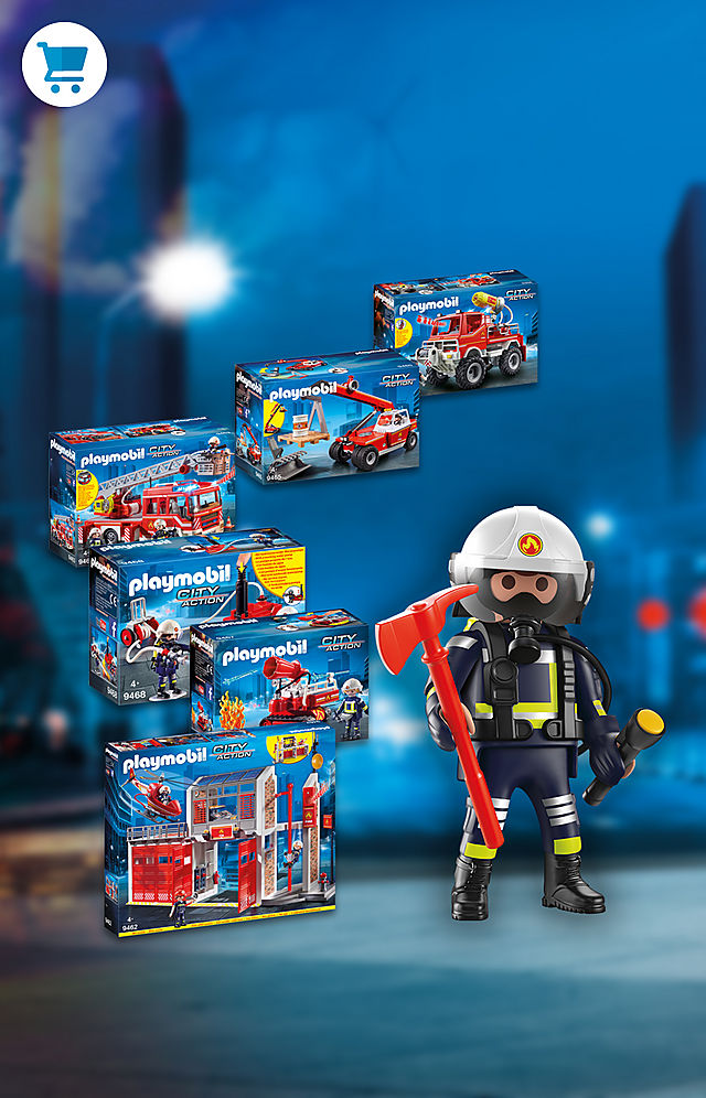 Race to the rescue and extinguis the blaze with the PLAYMOBIL Fire theme including Fire Station 9462 and Fire Ladder Unit 9463