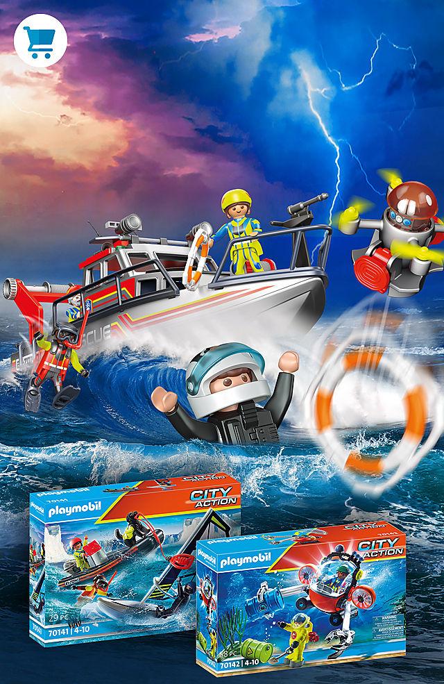 Reddingsactie op zee!
