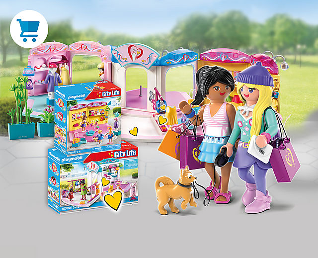 discover the new fashion world of Playmobil with 70592 Children's Fashion Store or 70590 Fashion Design Studio