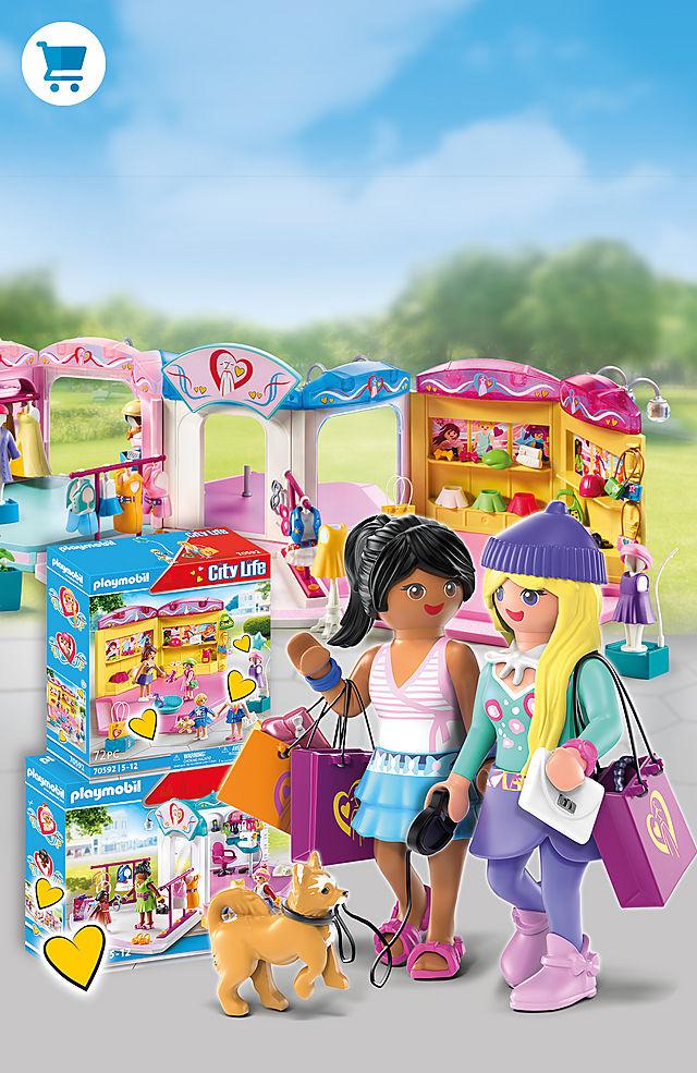 On a big shopping tour