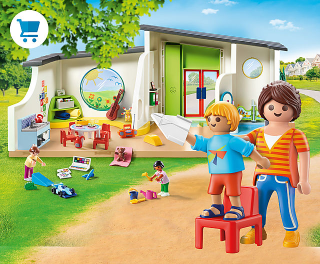 discover the new daycare play sets like 70280 Rainbow Daycare or 70281 Adventure Playground