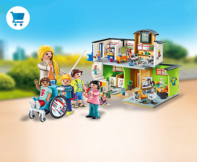 experience your own school day the way you want it to be with the Playmobil school