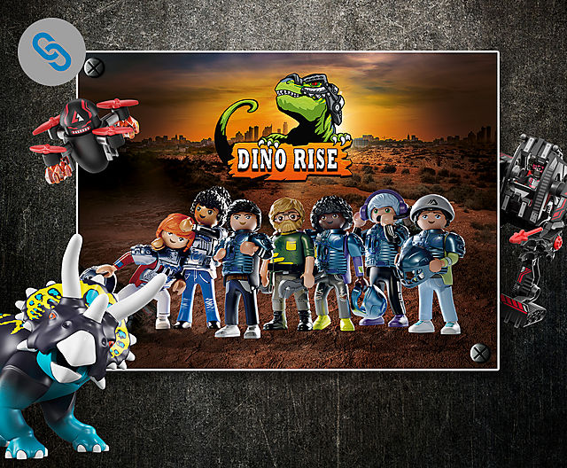 Join Ian and his friends to discover the world of PLAYMOBIL Dino Rise - theme page