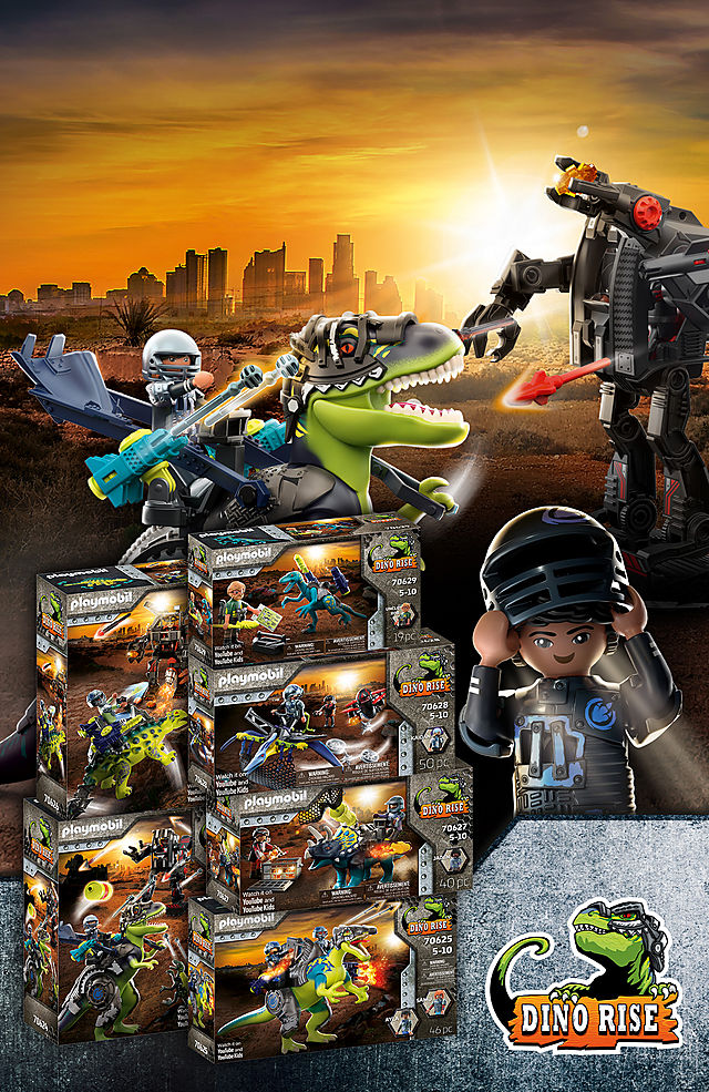 The ultimate dino adventure begins! Discover the new toy world with 70624 T-Rex: Battle of the Giants or 70626 Saichania: Invasion of the Robot