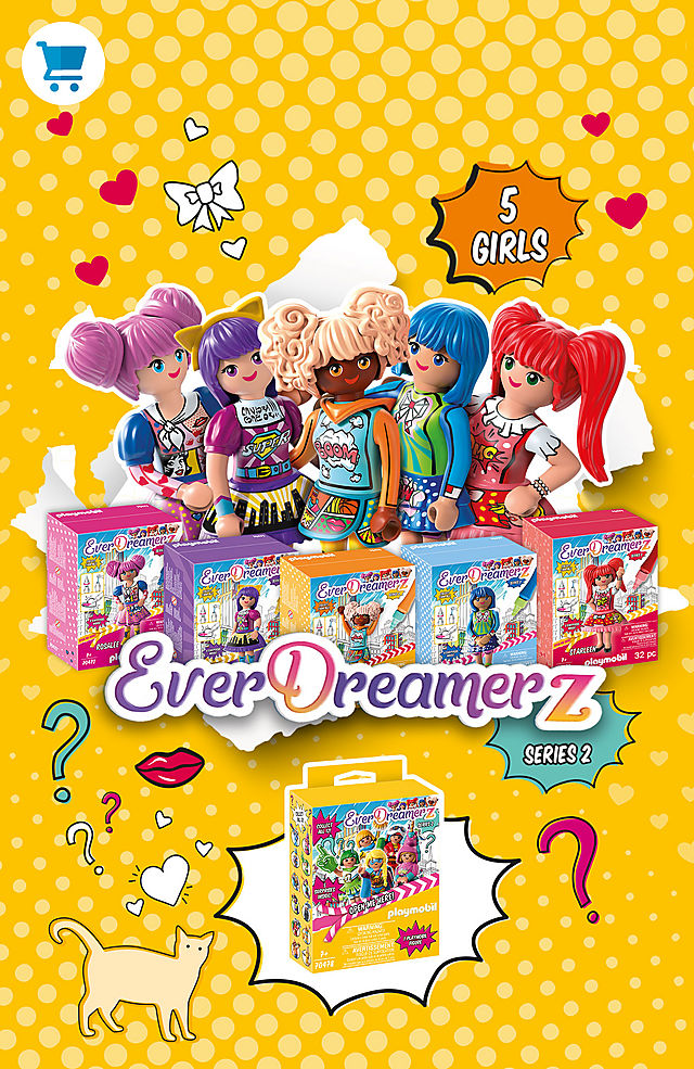 Be an EverDreamerz with the new game sets in Comic World like 70476 Edwina - Comic World