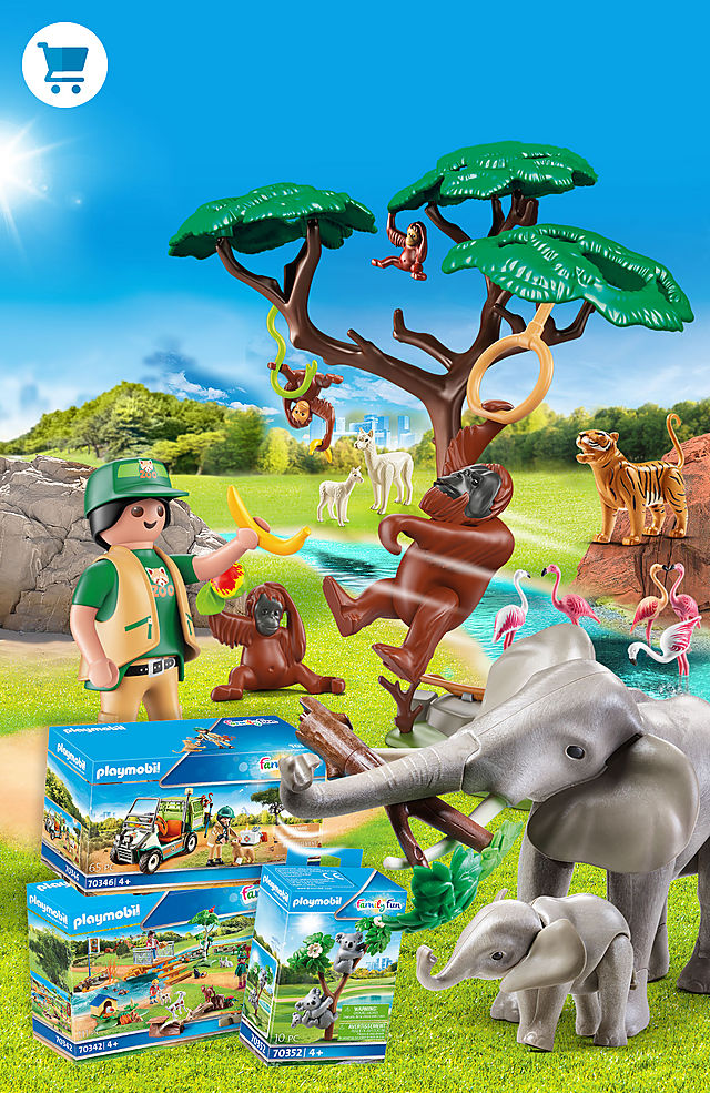 Discover the new zoo from Playmobil with great playsets like 70341 Zoo or 70354 Hippos