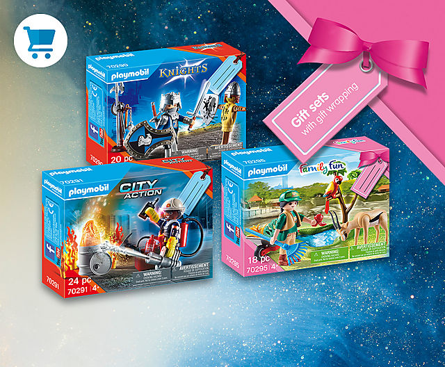 discover the new Playmobil gift sets like 70291 Fire Rescue Gift Set or 70295 Zoo Gift Set