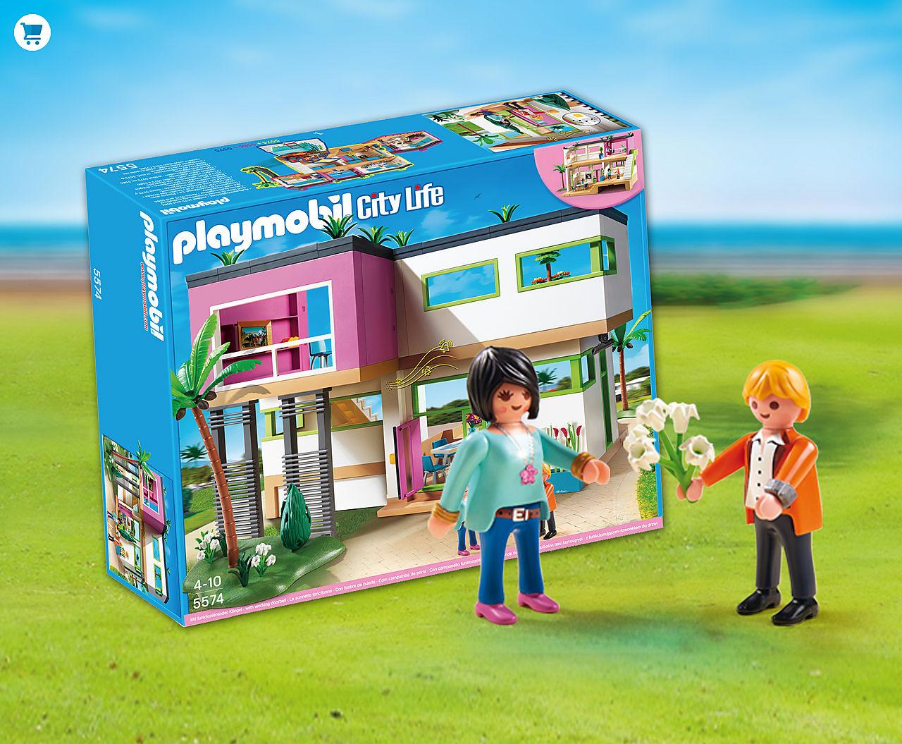 I den store luksusvilla fra Playmobil