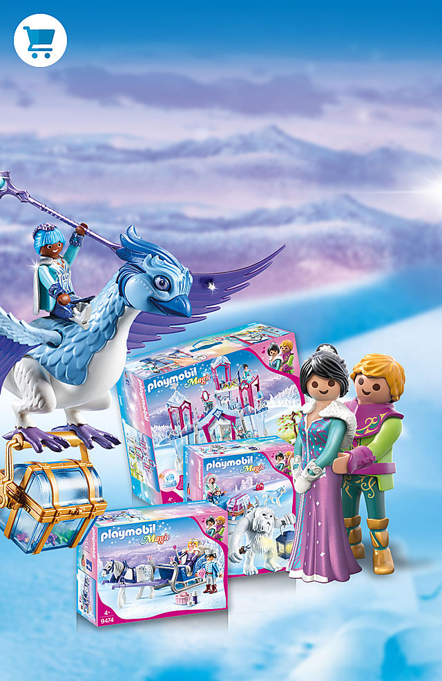 Now available: The Crystal Palace sets including mystical creatures like a Winter Phoenix and Yeti.