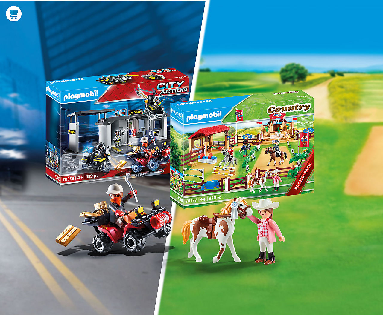 Available now: new Mega Sets - tons of fun for an unbeatable price. Featuring equestrian and tactical unit themes!