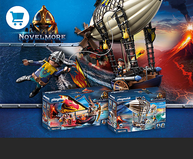 Discover the new Novelmore Knights playsets like 70642 Novelmore Knights Airship or 70642 Burnham Raiders Fire Ship