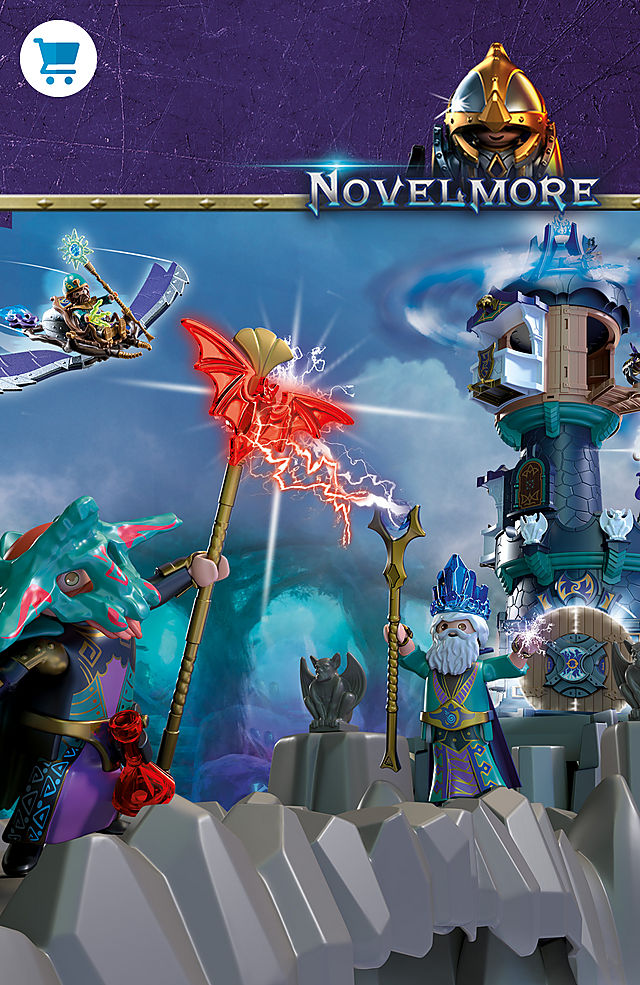 Discover the new world of the Knights of Novelmore - Violet Vale with items like 70745 Violet Vale - Wizard Tower or 70746 Violet Vale - Demon Lair