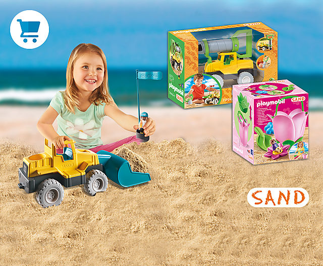 Looking to dig in at the beach?  Our new PLAYMOBIL Sand Drilling Rig and Spring Flower Bucket are sure to provide lots of fun in the sand!