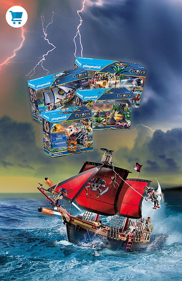 Click and find the new adventures with the Playmobil pirates