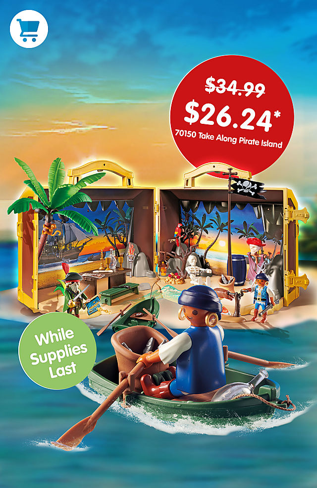 Pick of the month – 70150 Take Along Pirate Island for only $26.24 instead of $34.99 - while supplies last