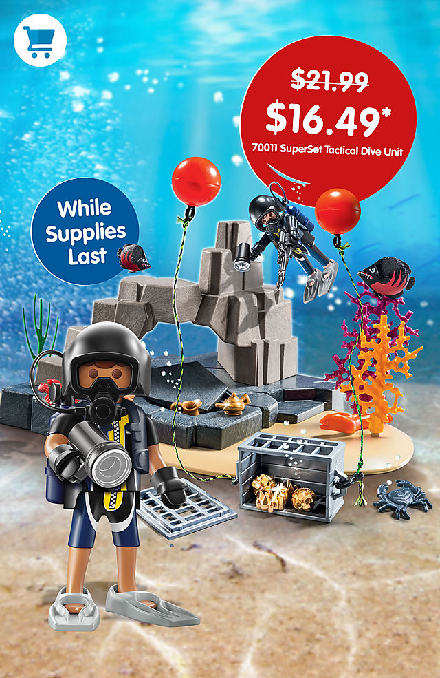 Pick of the month – 70011 SuperSet Tactical Dive Unit for only $16.49 instead $21.99 - while supplies last