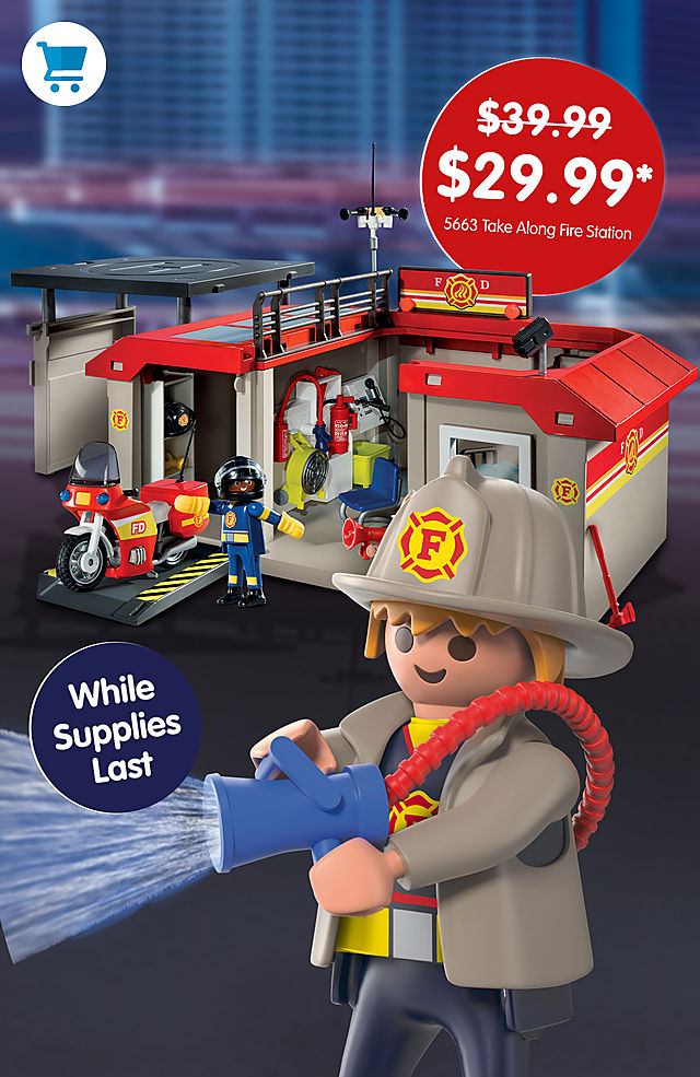 Pick of the month – 5663 Take Along Fire Station for only $29.99 instead $39.99 - while supplies last