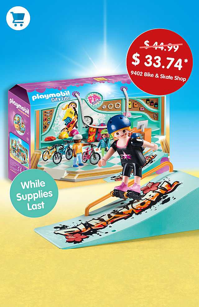 Pick of the month - 9402 Bike and Skate Shop for only $33.74 instead $44.99 - while supplies last