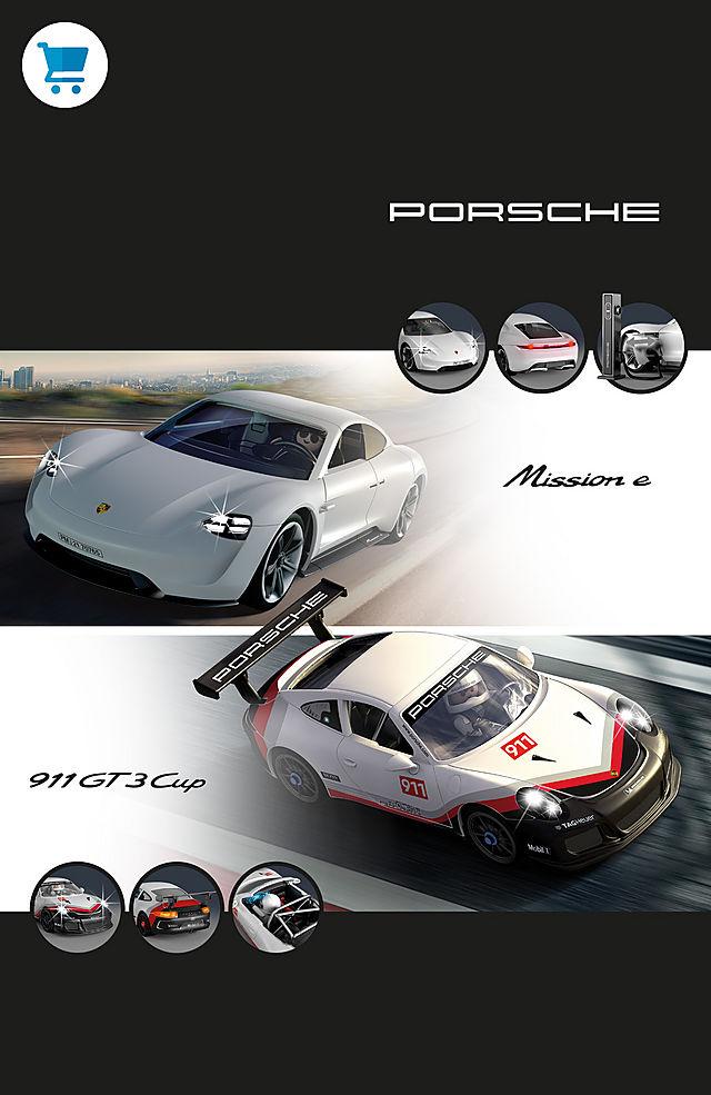 Discover our Playmobil Porsche with 70764 Porsche 911 GT3 Cup and 70765 Porsche Mission E