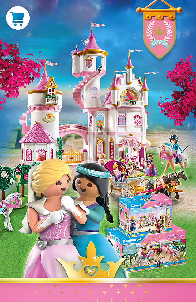 Discover our novelties of the Playmobil Princess World with 70447 Large Princess Castle 70450 Riding Lessons