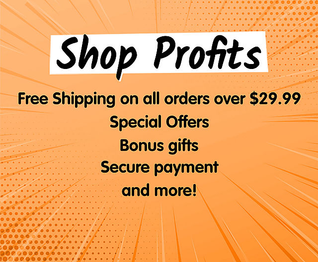 Our Online Shop Benefits include free shipping on orders over $29.99 and special offers and secure payment options and more!