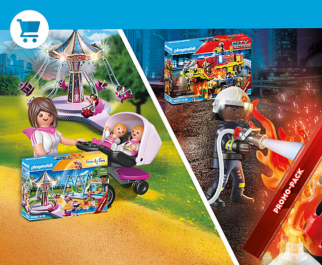 Discover the latest Playmobil Limited Editions - 70557 Fire Truck and 70558 Large Cpunty Fair