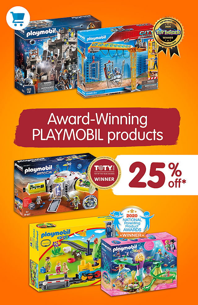 25% off all award winning playsets like 9487 Mars Space Station and 70094 Mermaid Cove with Illuminated Dome -  February 26 - March 1 2021