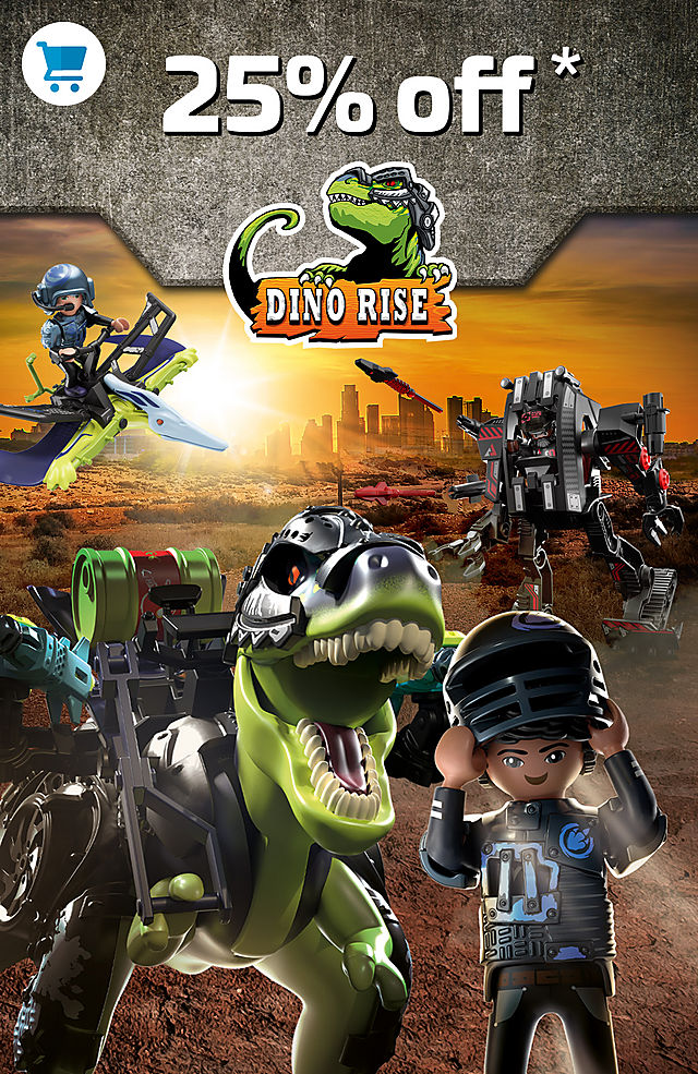 25% off the Playmobil Dino Rise discover great playsets like 70624 T-Rex: Battle of the Giants from September 17 to 21