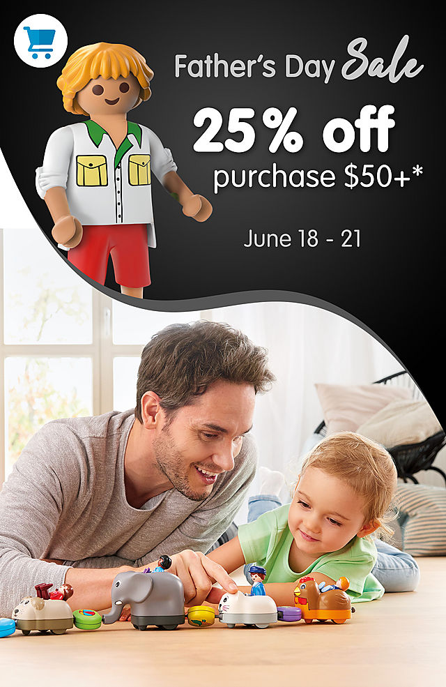 25% off Savings for purchase $50 or more - Happy Father's Day - from June 18 - 21 2021