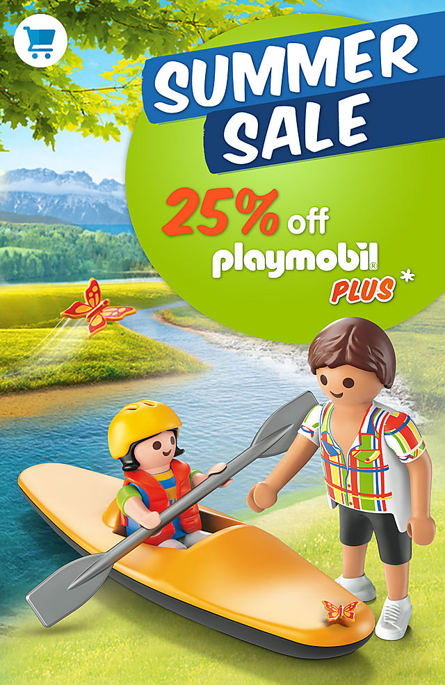 25% off the Playmobil Plus assortment discover great playsets like 6889 Off-Road SUV from July 29 to august 2