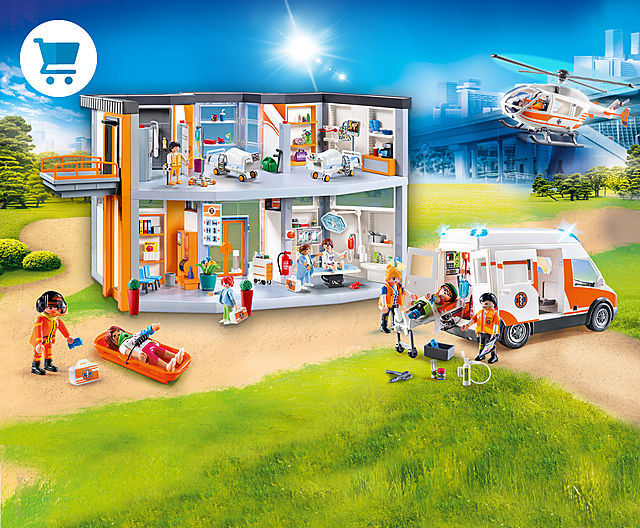 Find the newest PLAYMOBIL Hospital Playsets like 70190 large hospital