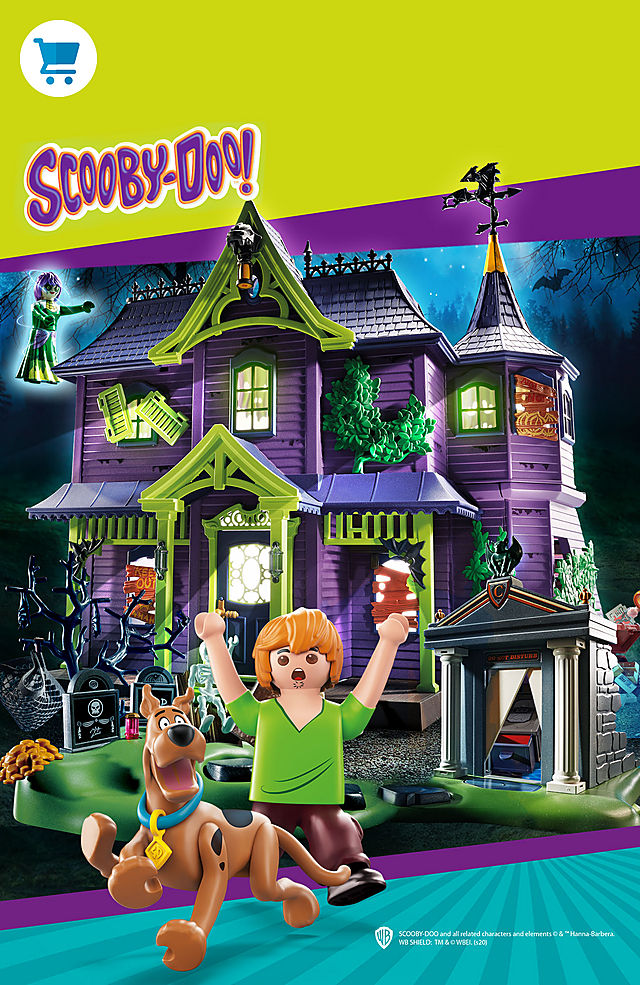 experience new adventures with Scooby-Doo and his friends and our playsets like 70286 SCOOBY-DOO! Mystery Machine or 70361 SCOOBY-DOO! Adventure in the Mystery Mansion