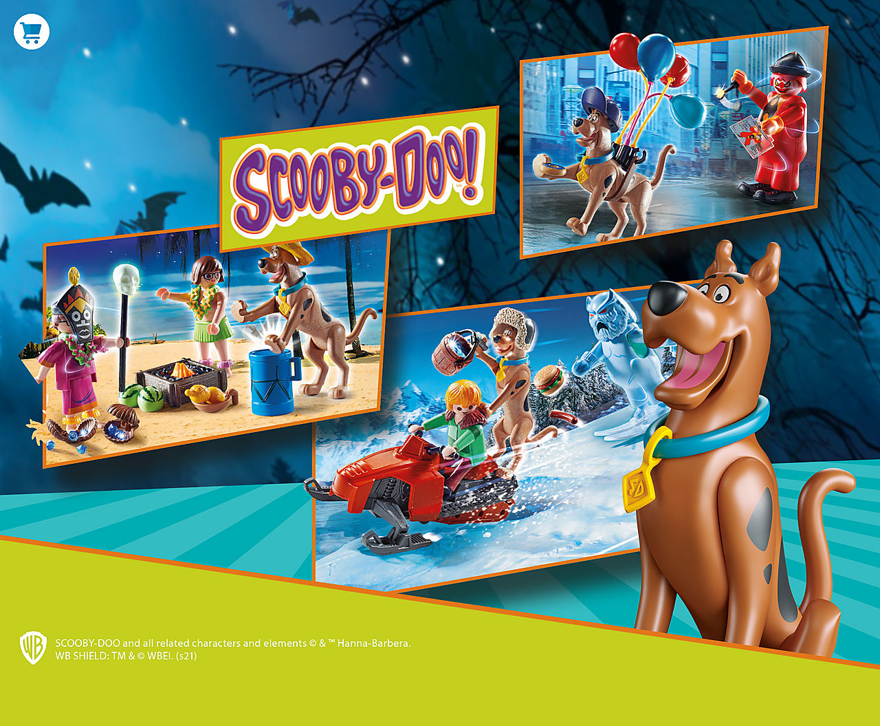 Discover the new SCOOBY-DOO playsets and collectible figures like 70710 SCOOBY-DOO! Adventure with Ghost Clown or 70706 SCOOBY-DOO! Adventure with Snow Ghost